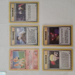 Lot of 5 Rare and Vintage Pokémon Cards